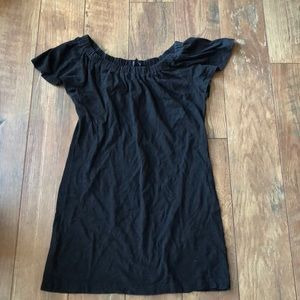 Banana Republic Cotton Blk Flutter SS Sun Dress M